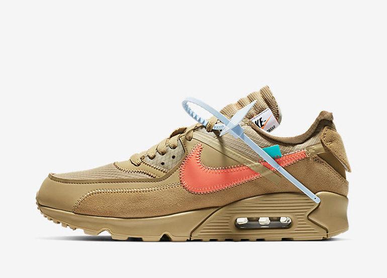 Off-White x Nike Air Max 90 – Desert Ore   sneakerb0b RELEASES