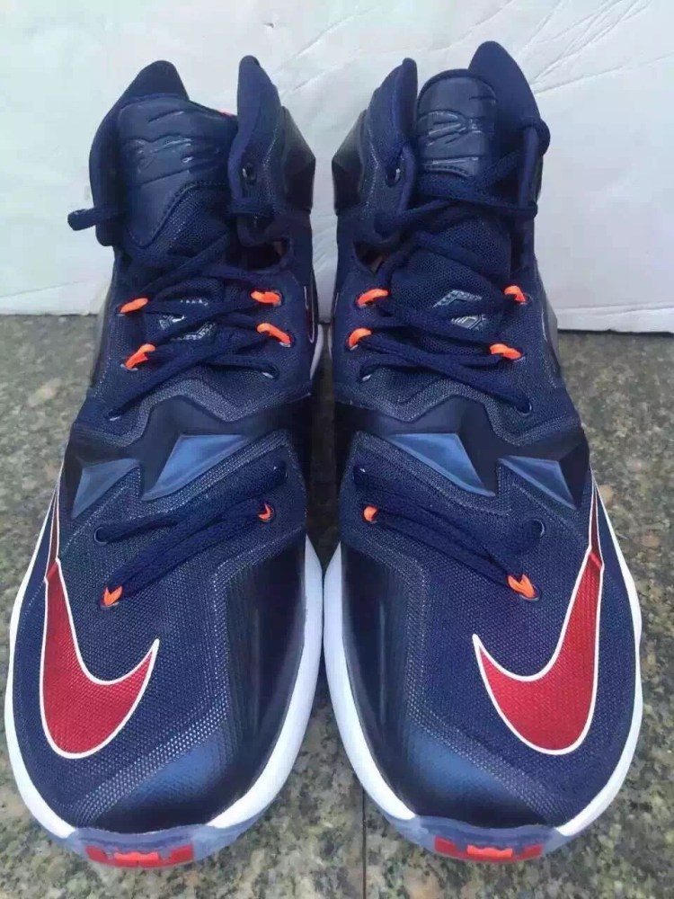 Nike LeBron 13 Midnight Navy Red White