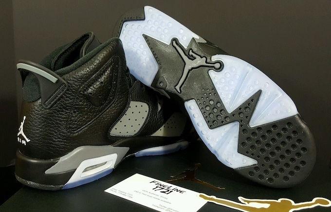 Air Jordan 6 GS Black Cool Grey White