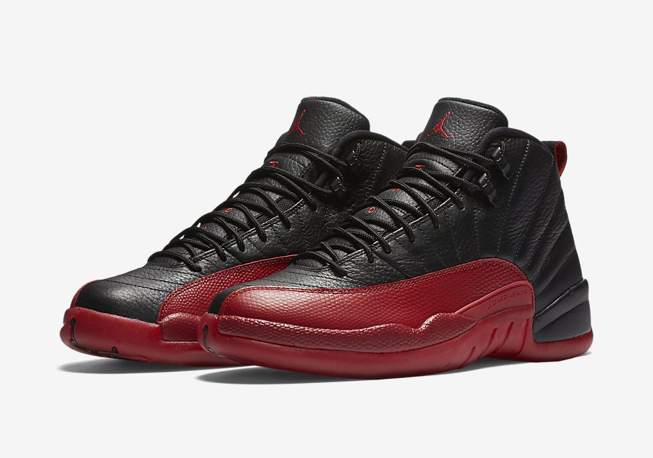 Air Jordan 12 Flu Game Black Red 2016 Retro