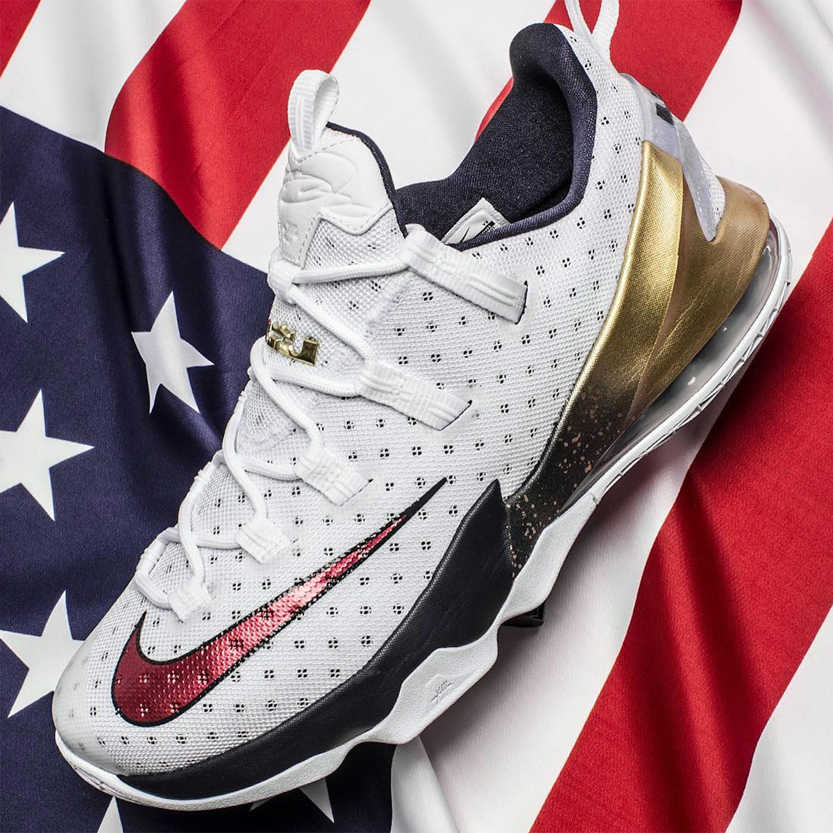 651943f5c5 Low - Related Images: Nike LeBron 13 Low Olympic Gold Medal Sneaker Bar  Detroit