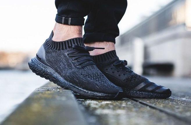 1026f2aa425615 adidas ultra boost on feet black black adidas ultra boost uncaged ba7996  sneaker