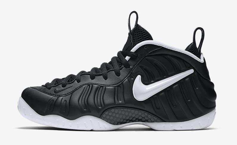 Nike Foamposite Pro Dr Doom Black White