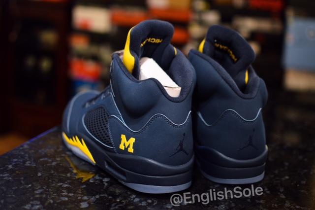 Michigan Air Jordan 5  Sneaker Bar Detroit