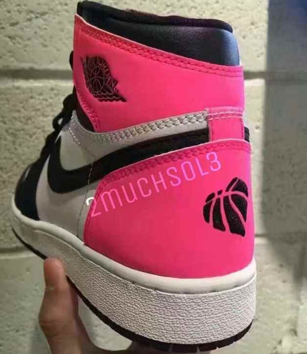 Air Jordan 1 Valentines Day 881426-009 Black Pink