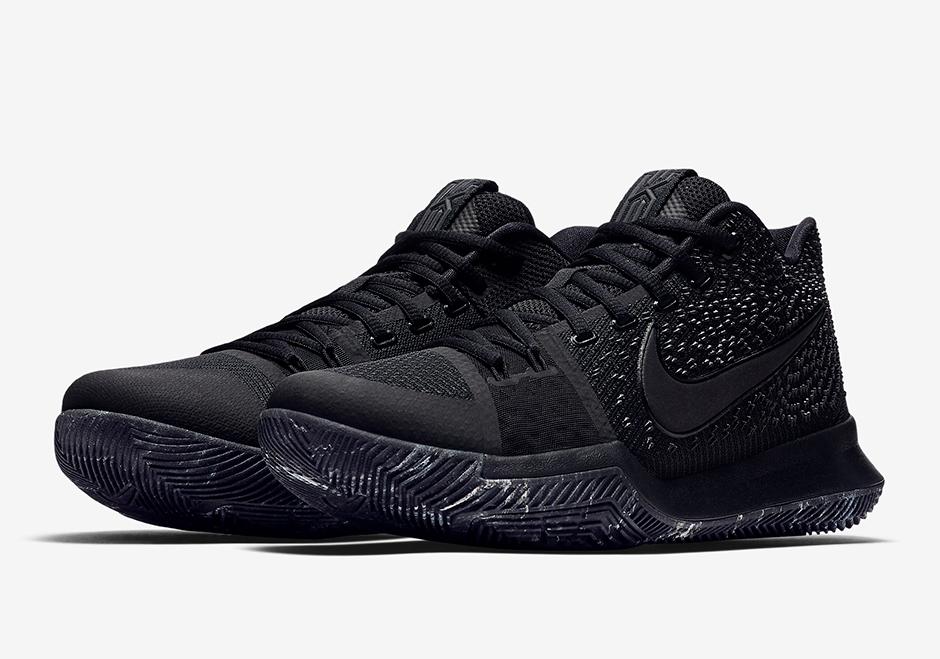 Nike Kyrie 3 Triple Black Marble Soles Release Date