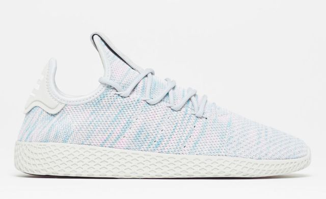 pharrell adidas tennis hu light blue by2671 - Pharrell adidas Tennis Sneakers Drop Next Week In 3 New Colorways
