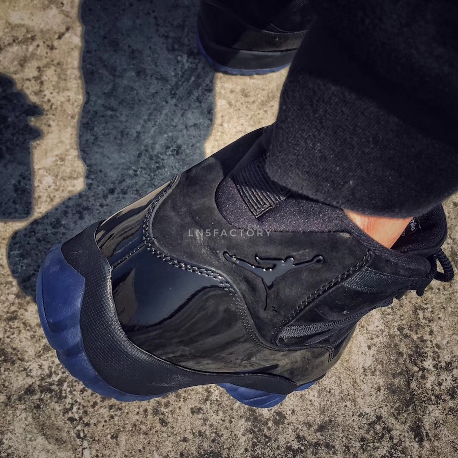 Prom Night Air Jordan 11 Black 378037-005 On-Feet