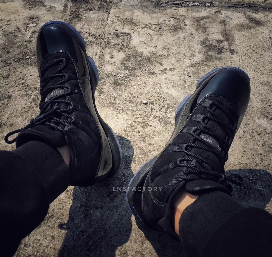 Prom Night Air Jordan 11 Black 378037-005 On-Foot Look