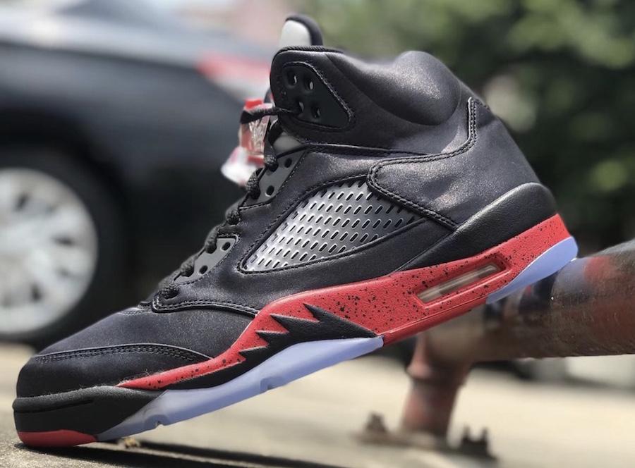 Air Jordan 5 Satin Bred Black