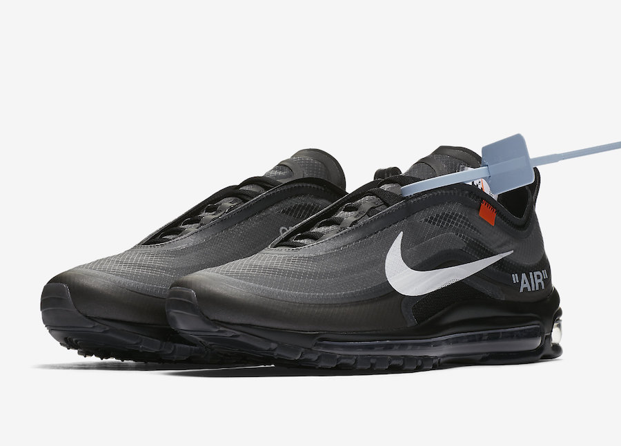 Off White Air Max 97 Black On Feet Nike Air Max 97 Quot Midnight