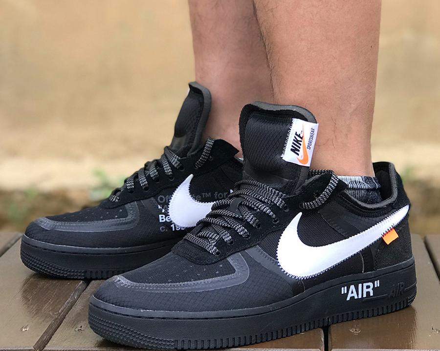 Nike Off White Air Force 1 Black On Feet White Nike Air 1 Low