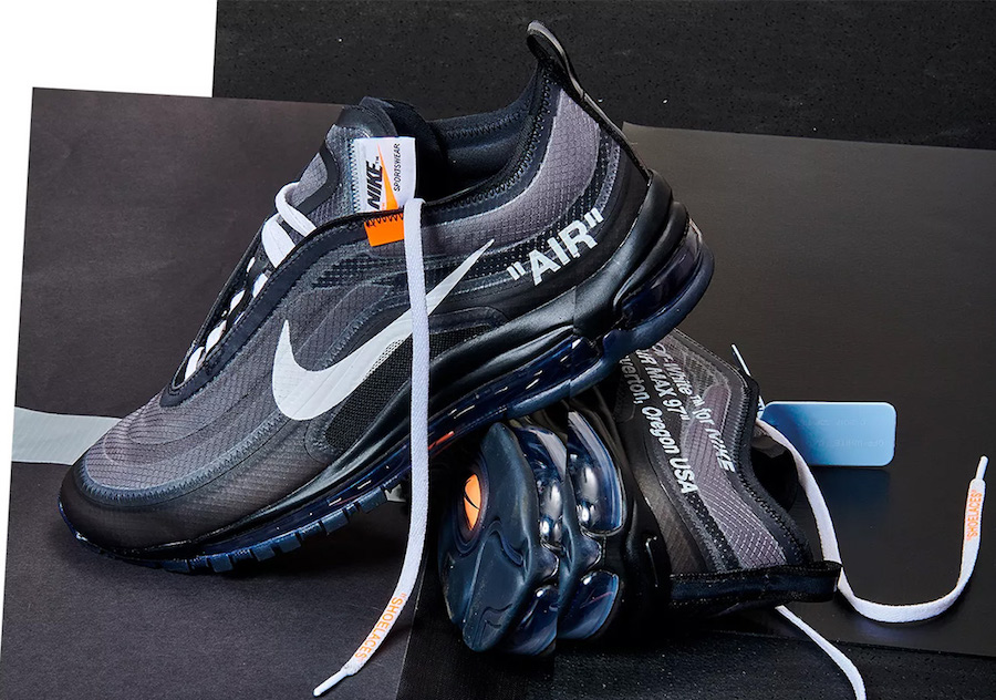 Nike Off White Air Max 97 Black On Feet S Nike X White Air Max
