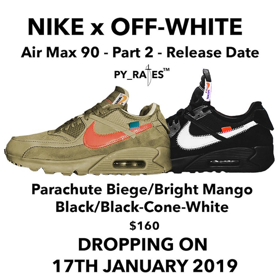 buy popular 86793 6af29 Off White Nike Air Max 90 Black Aa7293 001 Release Date Sbd