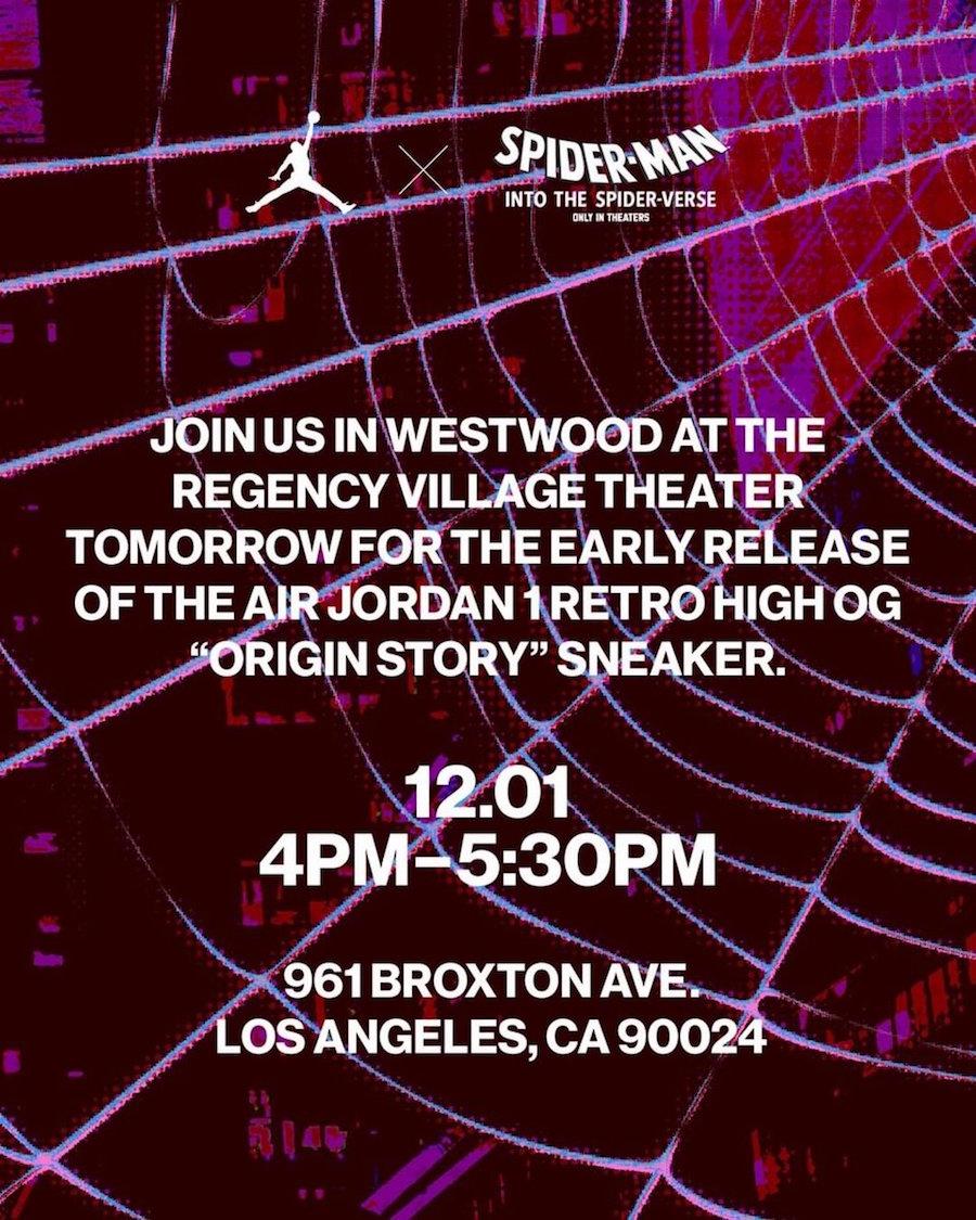 Spider-Verse Air Jordan 1 Foot Locker