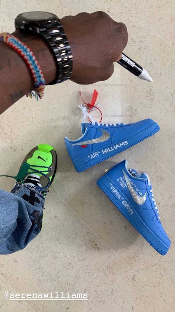 Image result for blue off white air force 1