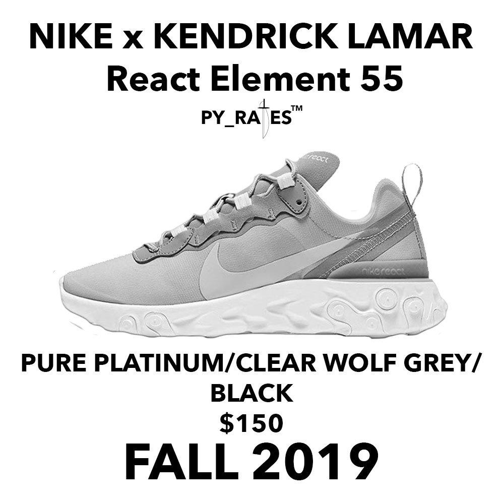 Kendrick Lamar x Nike React Element 55 Release Date