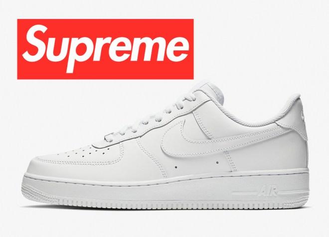 Supreme Nike Air Force 1 Low 2020 White CU9225-100 Black CU9225-001 Release Date
