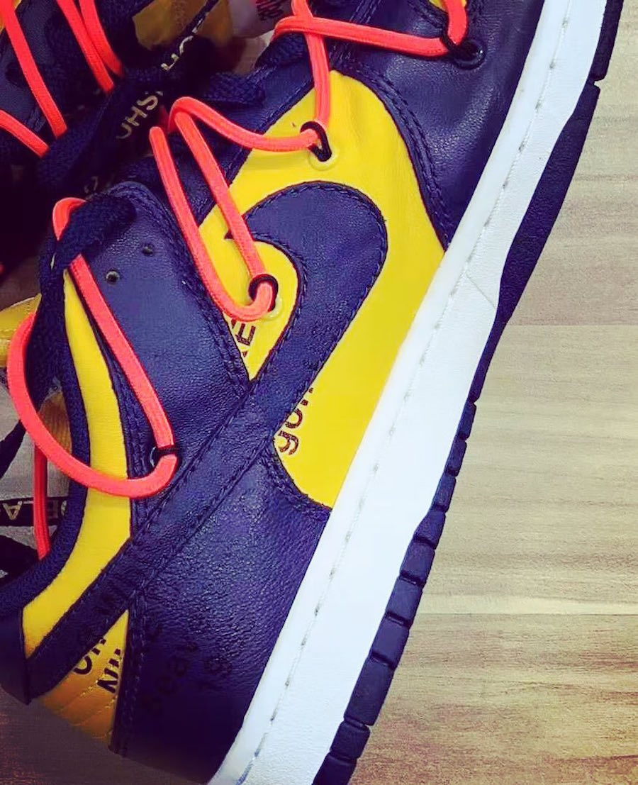 Off-White Nike Dunk Low University Gold Midnight Navy CT0856-700 Release Date