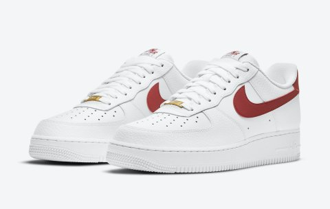 Nike Air Force 1 '07 'White / Team Red'