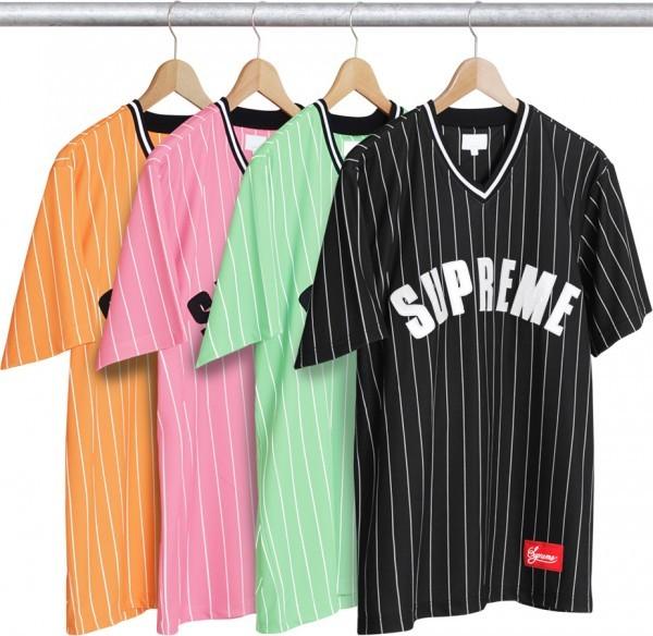 Supreme Pinstripe Baseball Jersey-01