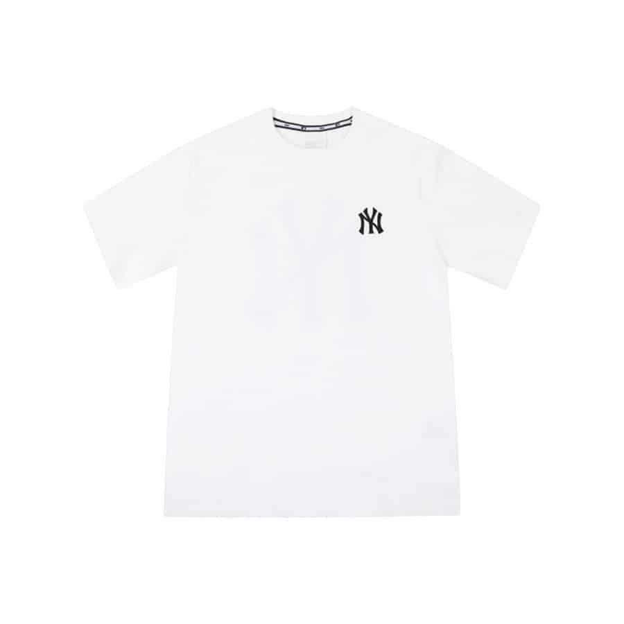 ao-phong-mlb-new-york-yankees-popping-big-logo-short-sleeve-white