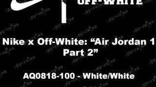 【2018】オフホワイト x エアジョーダン1 2018 / OFF-WHITE c/o VIRGIL ABLOH™ x Air Jordan 1 AQ0818-100