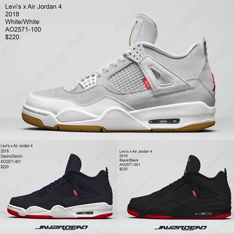 モデル, Levi's x Air Jordan 4