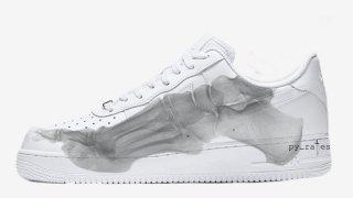 """【2018/10】ナイキ エアフォース1 スケルトン / Nike Air Force 1 QS """"Skeleton"""""""