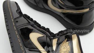 """【ホリデー】エアジョーダン1ハイOG ブラックメタリック / Air Jordan 1 High """"Black/Metallic Gold"""" 555088-032"""