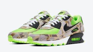 """【5/26】ナイキ エアマックス90 グリーンカモ / Nike Air Max 90 """"Green Camo"""" CW4039-300"""