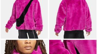 【11月再販決定】ナイキ ビッグスウッシュフルジップ ボアジャケット / Nike NSW Reversible Swoosh Full Zip Boa Jacket