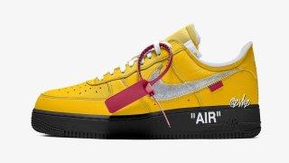 """【2021年7月】オフホワイト x ナイキ エアフォース1 ロー ユニバーシティゴールド / Off-White x Nike Air Force 1 Low """"University Gold"""""""