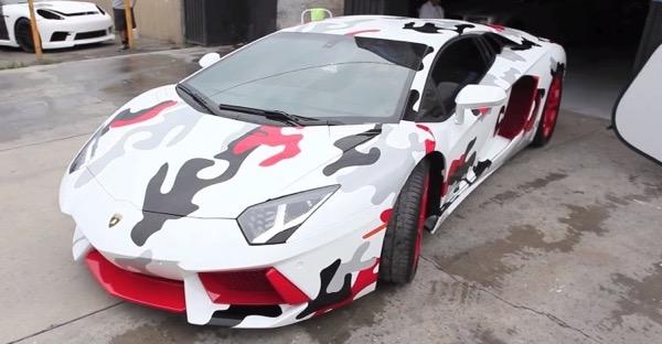 Chris Browns Lamborghini Aventador