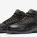 "国内10月1日発売予定  Air Jordan 12 Wool ""DARK GREY/BLACK"""