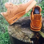 "リーク NIKE AIR JORDAN 4 PREMIUM ""wheat"""