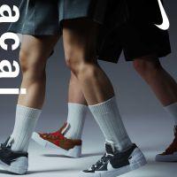 SACAI x NIKE BLAZER LOW IRON GREY & BRITISH TAN 国内7月29日/7月31日発売