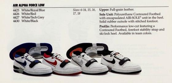 Nike Air Alpha Force Lineup. -- Photo via Nike Basketball Product Catalog