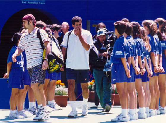 Andre Agassi and Pete Sampras 1995 Australian Open