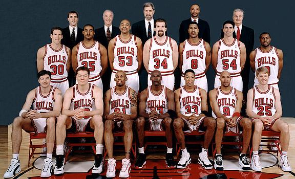 Chicago Bulls Team Photo 1995-1996