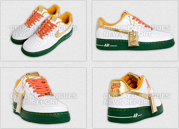 "Crooked Tongues x NIKEiD Air Force 1 ""BBQ"""
