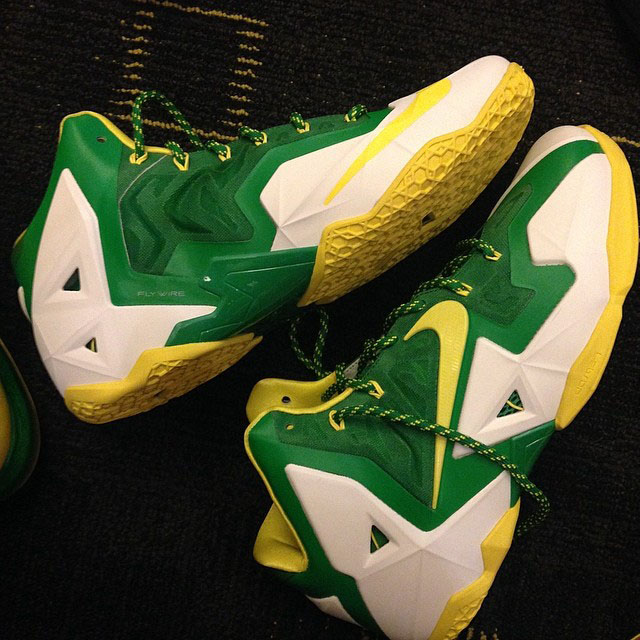 Nike LeBron 11 Oregon - 10 Best Oregon Ducks Sneakers of All Time