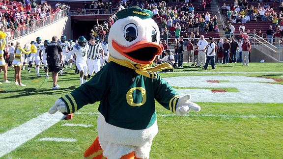 The Oregon Duck Mascot - 10 Best Oregon Sneakers Of All Time