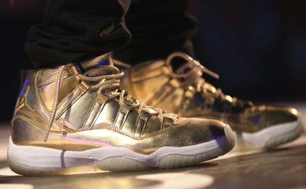 Usher's All Gold Jordan 11 For Sale