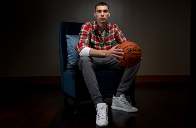 Zach Lavine wearing the Balenciaga Arenas - Photo courtesy of NBA