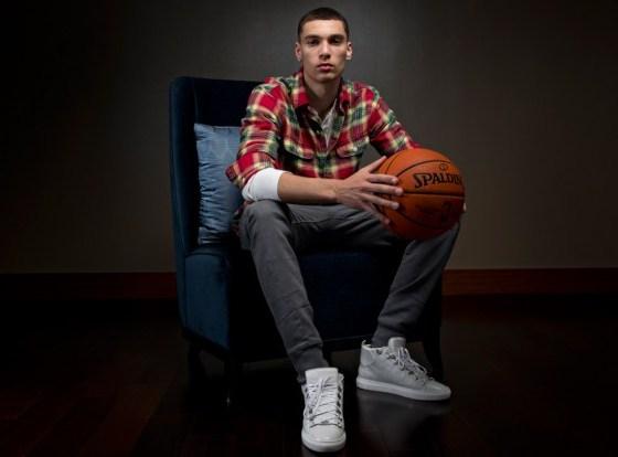 Zach Lavine wearing the Balenciaga Arenas - Photo courtesy of NBA