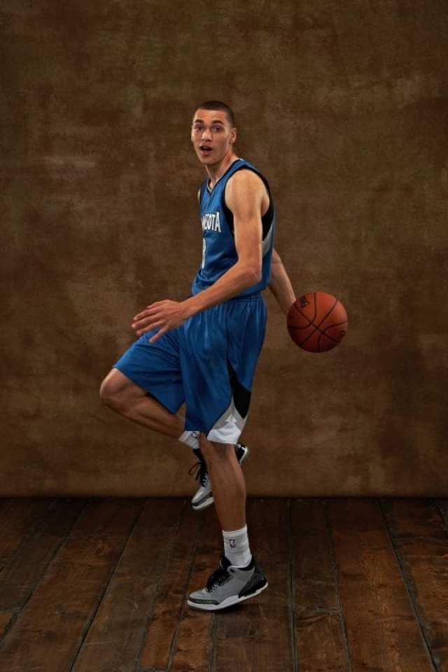 Zach Lavine wearing Jordan 3s - Photo by Jennifer Pottheiser /NBAE via Getty Images