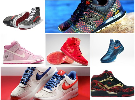 Chinese New Years Sneakers Collage