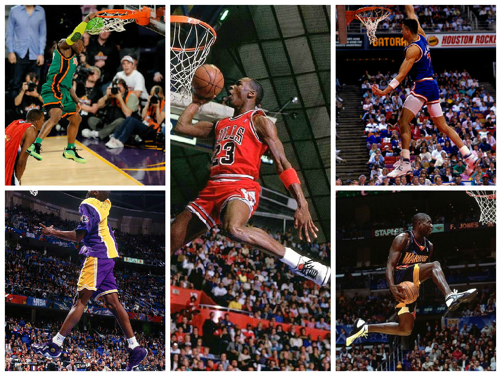 NBA Slam Dunk Contest Sneaker Collage