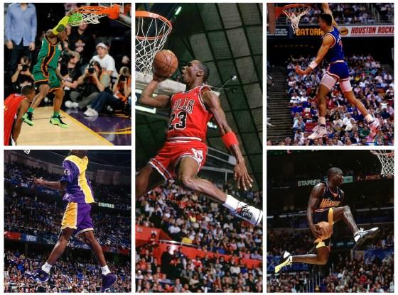 NBA Slam Dunk Contest Sneaker Collage